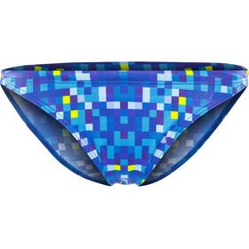 Turbo Pixels Slip del bikini Mujer, blue